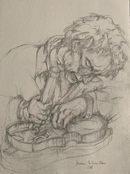 Violin Maker working drawing