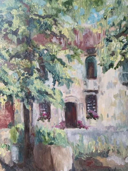 Under the Linden trees. Ristorante Venier.