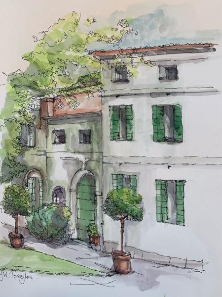 Torreglia watercolour study.